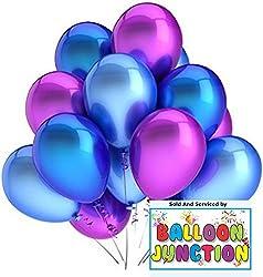 HD+ Mettalic finish balloons Blue+ Pink ( 52 pcs)