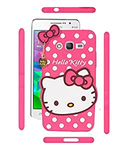 Soft silicone scratch resistant hello kitty case for Samsung Galaxy J2 Pink