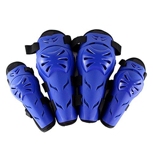 LXYFMS Knieschützer-Leggings Motocross-Rennbekleidung für Outdoor-Sportarten mit bruchsicherer Schutzausrüstung Sicherheits-Knieschützer (Color : Blue)