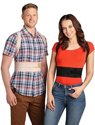 ®BeFit24 - Premiumklassiger Geradehalter zur Haltungskorrektur für Damen und Herren - Rückenbandage für perfekte Haltung - Rückenstütze und Bandage zur Korrektur der Körperhaltung und als Schultergurt für gerade Schultern und Rücken beim Sitzen sowie als