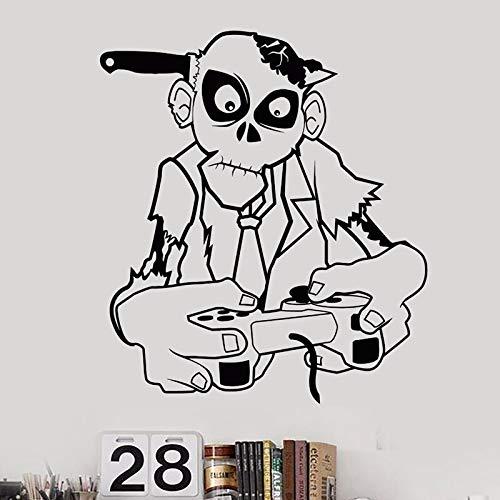 haotong11 Zombie Video Game Aufkleber Spielen Spielzimmer Aufkleber Gaming Poster Gamer Vinyl Wandtattoos Parede Decor Wandbild Video Game Stic 58 * 67 cm