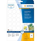 Herma 4387 Movables Etiketten rund, ablösbar, wieder haftend (Ø 30 mm auf DIN A4 Papier matt weiß) 1.200 Stück auf 25 Blatt, bedruckbar