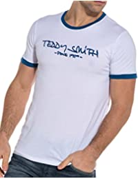 Teddy Smith T-Shirt muist Have White Printed Blue