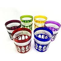 Verres à whisky, verre à coktails handmade, Service 6 verres (23 cl), verre Roemer, signés Cristal Klein 54120 Baccarat, idée cadeaux.