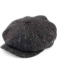 Casquette Gavroche en Tweed du Donegal Chiné gris anthracite CITY SPORT