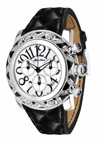Glam Rock 0.96.2149 - Reloj de cuarzo para hombre, con correa de cuero, color negro