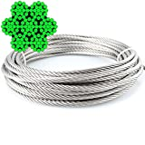 10 Meter Wire Rope 7x19 Soft – 2 mm A4 Stainless Steel