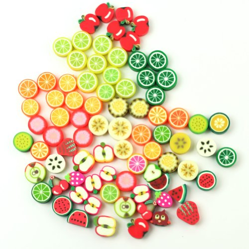 100pcs-mixed-fimo-polymer-clay-fruits-spacer-beads-105x9mm-10x10mm