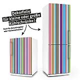 Kühlschrank- & Geschirrspüler-Aufkleber --- Stripes --- Folie Dekorfolie Klebefolie Front Spülmaschine