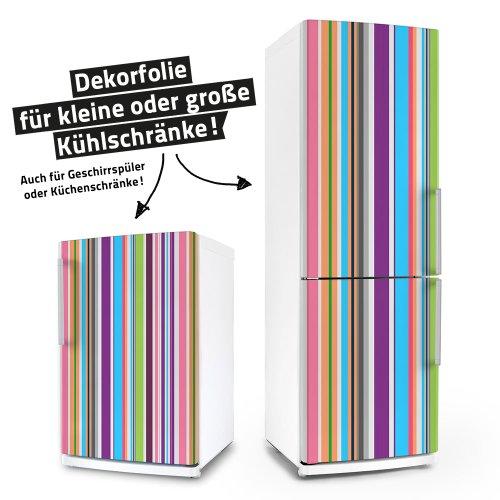 Kühlschrank- & Geschirrspüler-Aufkleber --- Stripes --- Folie Dekorfolie Klebefolie Front Spülmaschine (Kühlschrank Vinyl Cover)
