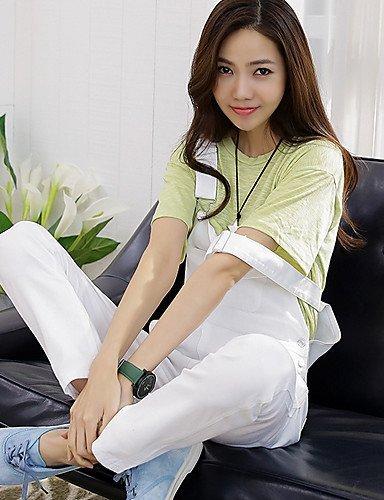 GSP-Pantalon Aux femmes Sexy / Décontracté Toile de jean white-s