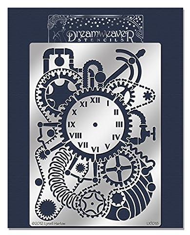 Stampendous Dreamweaver Pochoir en métal 22,9cm X 15,2cm Steampunk Horloge,