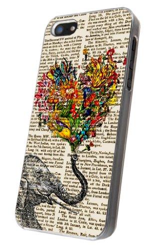 iphone 5 5S Aztec Ornate Elephant Flower Roses Trunk Fashion Trend Design Hülle Case Back Cover Metall und Kunststoff-Löschen Frame elephant
