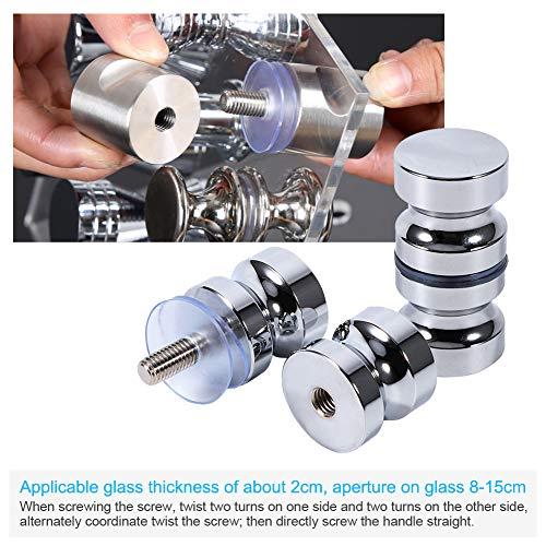 51ADRTgGmVL - Tirador para puerta de muebles Manija de puerta de la aleación de aluminio para el gabinete de la ducha del cuarto de baño del botón de cristal solo