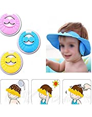 Bankcroft Export New Adjustable Safe Soft Bathing Baby Shower Cap Wash Hair For Children Baby Eye Ear Protector Adjustable Leaves Shape Bathing Shower/Shamoo Cap Hat Pack of 1 baby shower cap