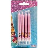 Princesses 346175 Lot de 8 Bougies bâtonnet Cire Rose