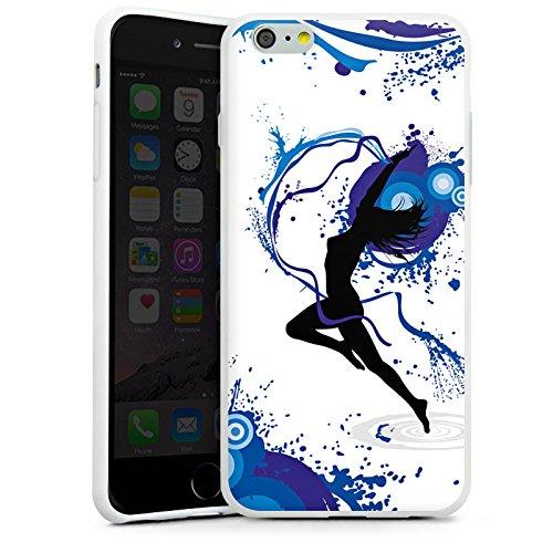 Apple iPhone X Silikon Hülle Case Schutzhülle Tanzen Dance Weiblich Silikon Case weiß