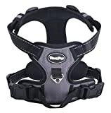 EXPAWLORER Best Front Range No-Pull Dog Harness.Reflective Outdoor Adventure Pet Vest with Handle