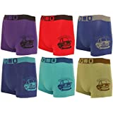 Pack of 6 Children's Boxer Shorts Boys TOP quality different models. Microfibre Underwear Shorts Pants-Seamless