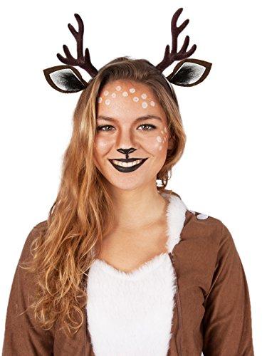 Kostüme Rehkitz Rehhaarreif mit Ohren (Rudolph Geweih)