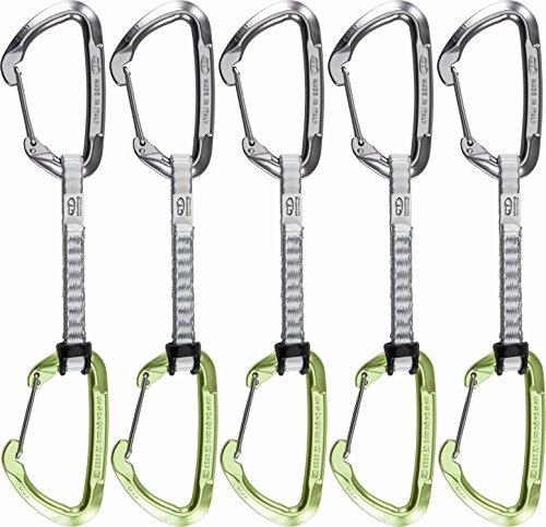 Climbing Technology Lime-W Lot de dégaines d'escalade Gris/vert 22 cm