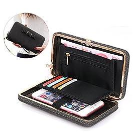 e5b1951ffe Aeeque 6 [A Wallet] Portafogli di Pelle PU Elegante Cover Custodia con  Scomparti per