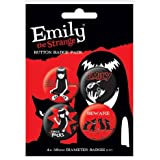 Emily The Strange Chapas Pin Set (Pack de 4 Pins)
