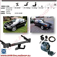 /fixed Towing Hitch with Screwed-On Spherical Head AHK 7-Pin Wiring Kit For Vauxhall Corsa C Combo 2001/to 2011/Tow Trailer Hitch Mount/
