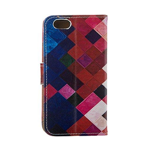 """MOONCASE Étui pour iPhone 6 Plus / 6S Plus (5.5"""") Cuir Coque en Portefeuille Protection Housse de Étui à rabat Case RX26 RX05 #0308"""