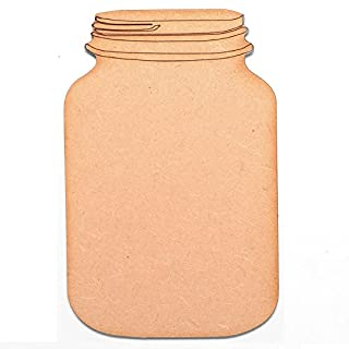 10 PACK MDF Mason Jar Shapes, MDF Jam Jar Shapes, MDF Craft Shapes. Choose From 4 Sizes - Made by Ambrosia Woodcrafts (50mm)