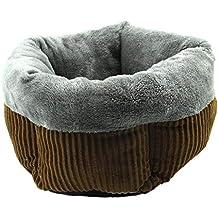Saco de Dormir para Mascota con Cama Acolchada para Perro y Gato Redondo, otoño e