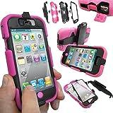 Coque Protection Robuste Usage Survivant Antichoc Robuste pour iPhone 3 3G 3GS - Noir, Apple iPhone 4S / 4