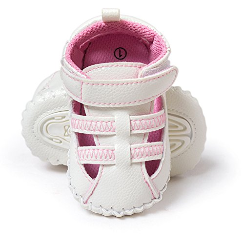 Confortable Tout-petit bébé Premier-Walking-Shoes Chaussures douces et antidérapantes pour 0-18 mois Filles Printemps été Automne Wearing (Bleu, S) Rose