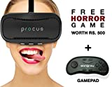 Procus BRAT VR (With Controller) Virtual Reality Headset - 42MM Lenses- Fully Adjustable VR Glasses - VR Headset For VR Video Gaming, Movies, Pictures - Compatible With All 35'-6' Android Phones, iPhones, Samsung Galaxy Inspired by Google Cardboard, Oculus Rift …