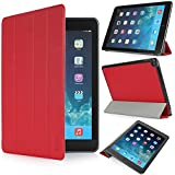 iHarbort® Apple iPad Air Hülle - Prime Ultra Slim PU Leder Tasche Case Etui Sleeve Smart Cover Schutzhülle Hülle für Apple iPad Air , Mit Sleep / Wake-Up-Funktion, Rot
