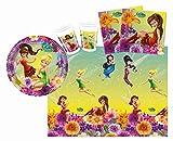 Procos 10108560B - Kinderpartyset - Disney Fairies Magic, Größe S, 37-teilig