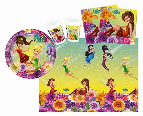 Procos 10108560B - Kinderpartyset - Disney Fairies Magic, Größe S, (Tinkerbell Zubehör)