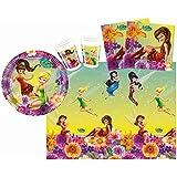 , Tamaño S, 37 piezas Disney Fairies Magia - Procos 10108560B - Kinderpartyset