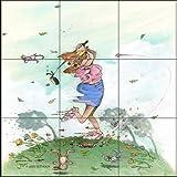 Fliesenwandbild - gegen den Wind - von Gary Patterson - Küche Aufkantung / Bad Dusche
