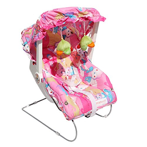 Pioneer Carry Cot, Rocker and Bouncer 8 in 1 - Pink