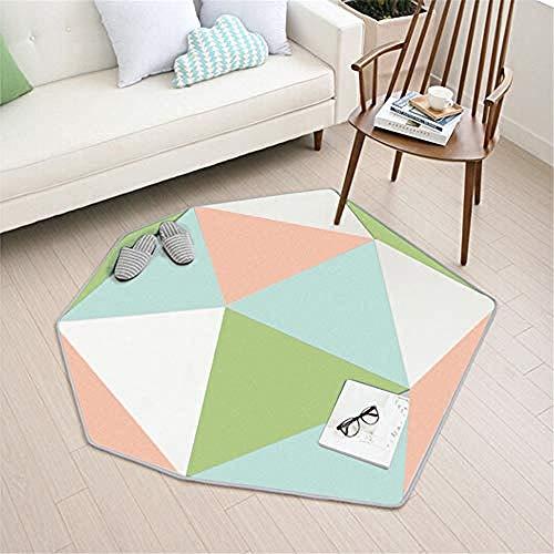 Die Aktive Faser-pulver (soroucuin store Teppich Waschbar rutschfeste flauschig weich Küchen Kinderteppiche Teppichförmiges grünes Pulver 14MM Dicke im Teppich 137 * 150CM)