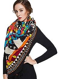Ztweijin Chaude Écharpe De Mode Foulards et Châles Femmes Cape Musulman  Hijab Plaid Couverture Écharpe Bandana Poncho Visage… 7f10256dd557
