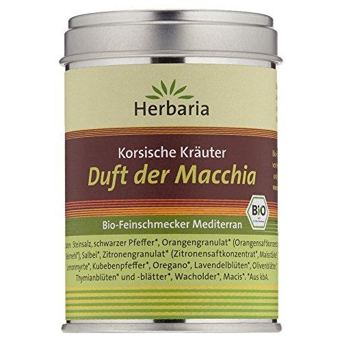 """Herbaria """"Duft der Macchia"""" Korsische Kräuter, 1er Pack (1 x 80 g Dose) - Bio"""