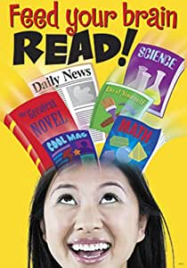 'Feed your brain READ!' School Classroom / Library Poster