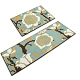 Homcomoda 2 Piece Kitchen Rugs Runnners Non-Slip Rubber Backing Kitchen Mats and Rugs