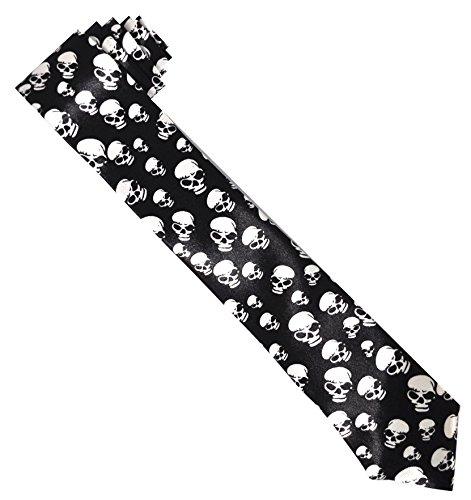 Negro para hombre con mini calaveras corbata (Ti31)