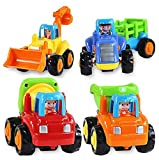 Magicwand Unbreakable Construction Automobiles Toy Set, Multi Color (Pack of 4)