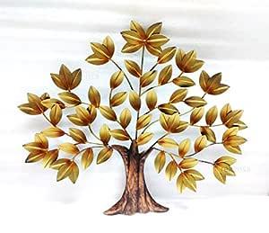 REKENSA Hand-Crafted Decorative Metal Tree Wall Art (26 x 22 inch , Medium )