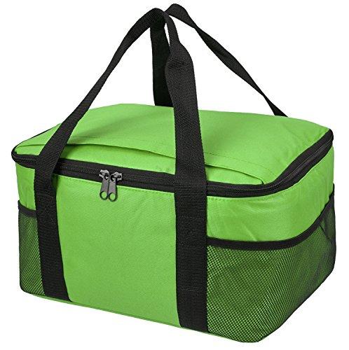 Borsa termica Picnic raffreddamento isolato Lunch Box/scatola, disponibile in diversi colori, White, 37 x 20 x 27 cm Lime
