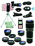Best Cell Phone Cameras - Cell Phone Camera Lens Kit,11 In 1 Universal Review